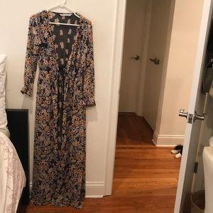 Sheer Zara button up dress/ robe